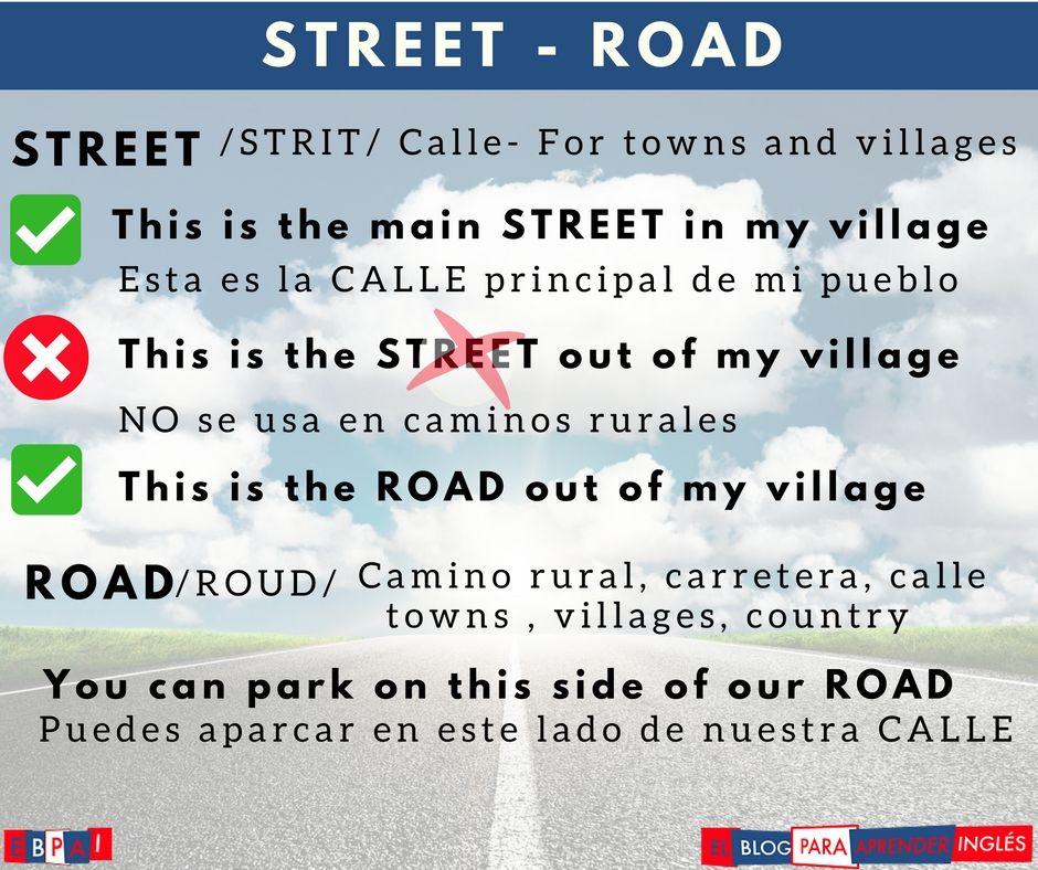 La Diferencia entre street y road