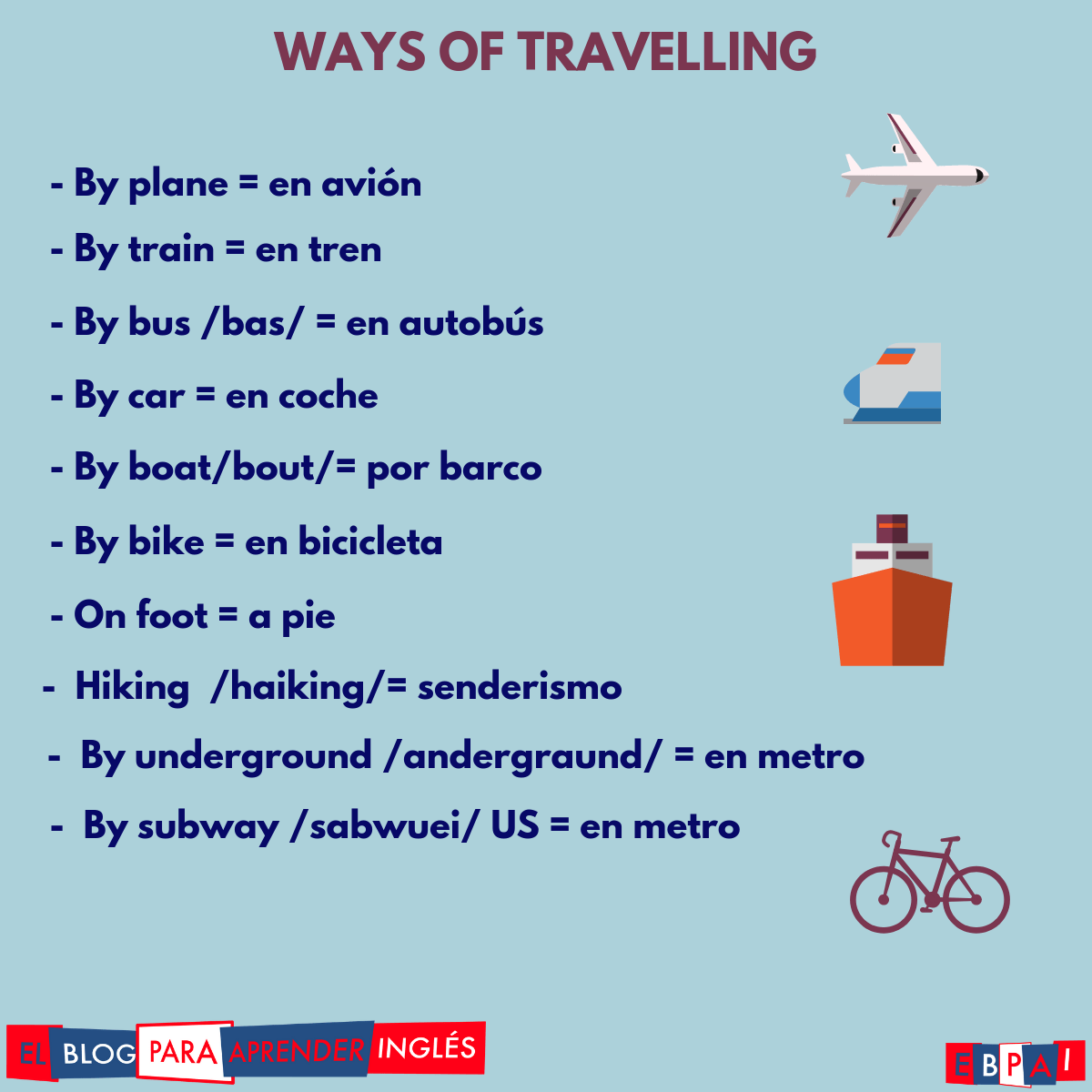El Blog Para Aprender Ingles Unit 9 A2 Travelling