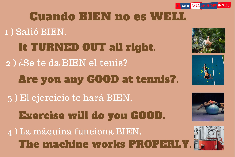 cómo se dice BIEN en inglés